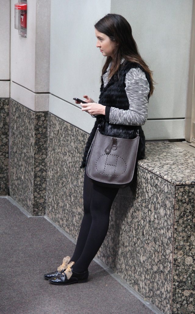 Hermes Cross-body Evelin Bag Spotted at Prudential Center